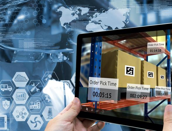 Monitoring supply chain through tablet device
